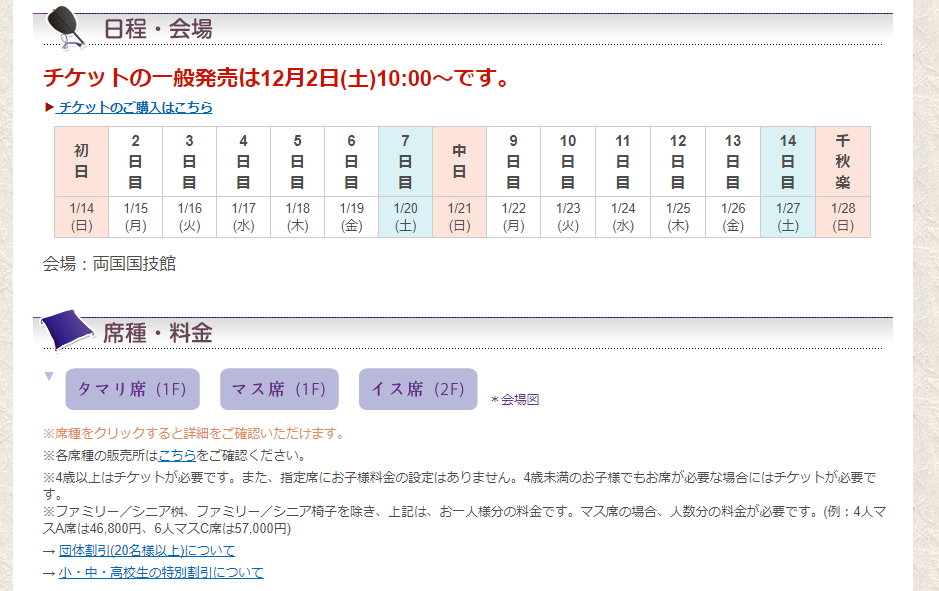 相撲チケット