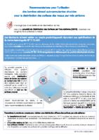 COVID-19 Recommandations utilisation bombes aérosol auto-percutantes virucides désinfection surfaces