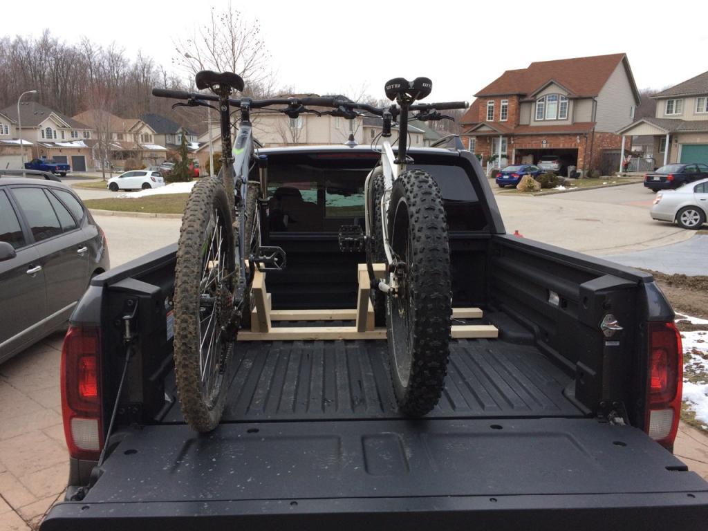 truck bed bike racks let s see them