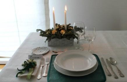 """10.La tavola del panzo di Natale di Lucia:""""All I want for Christmas ..is you"""""""