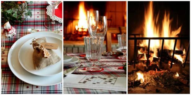 """4. La tavola della Vigilia di Natale di Daniela: """"Cena di Natale davanti al camino"""