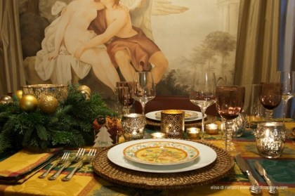 "3.La tavola della Vigilia di Elisa:""Gingerbread mood"""