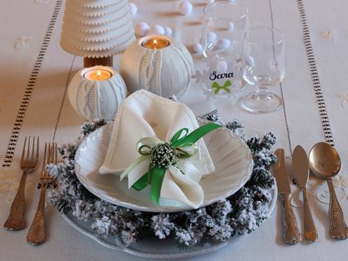 """2.La tavola di Valentina per la Vigilia di Natale: """"I'm dreaming of a white Christmas"""""""