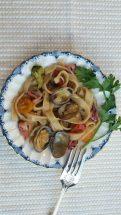 77. Scialatielli coon vongole, calamari e broccoli di Elisa D