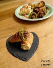 12. Valeria, Cannoli con mousse al cioccolato e tahini e con crema delizia al limone