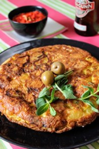 2. tortilla classica con stoccafisso e menta di Acquaviva