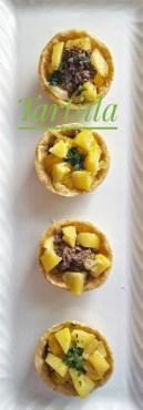 109. tartellette con patate uova e fegatini di Giulietta
