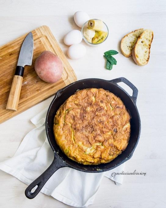88. tortilla di patate e carciofi di Anna e Sebastiana