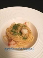 2. spaghetti all'acqua di limone e gamberoni di Mariella