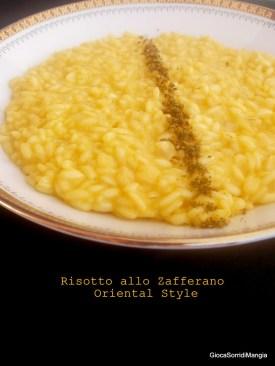 3. risotto allo zafferano Oriental style di Sonia