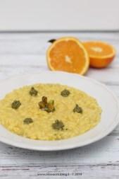 36. risotto allo zafferano, taleggio e arancia con crema di pistacchi di Fabiola
