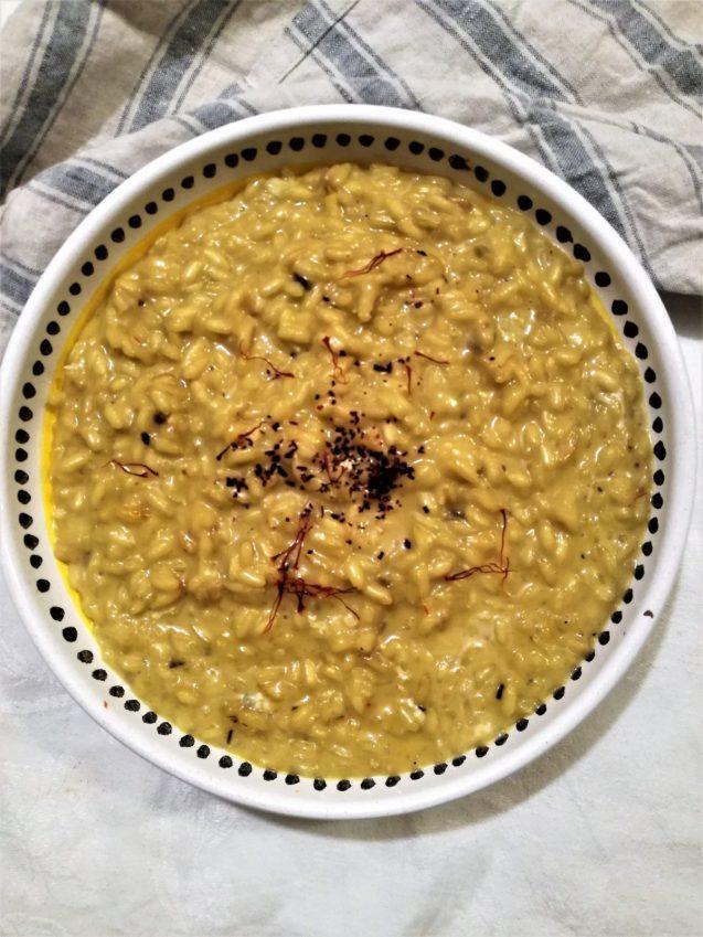 7. risotto allo zafferano e gorgonzola di Antonella