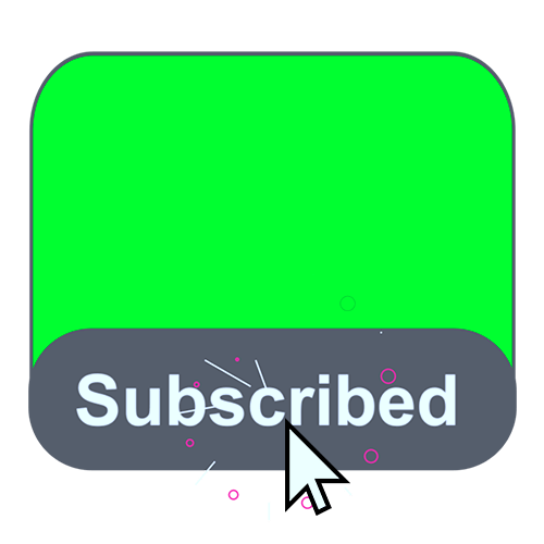 Subscribe button and bell icon Template