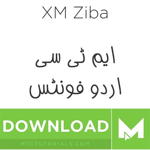 Download Urdu fonts XM Ziba