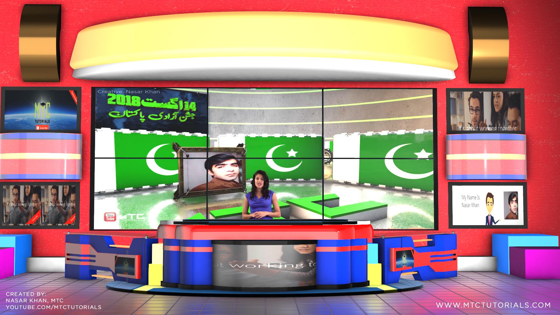 Free virtual studio news desk