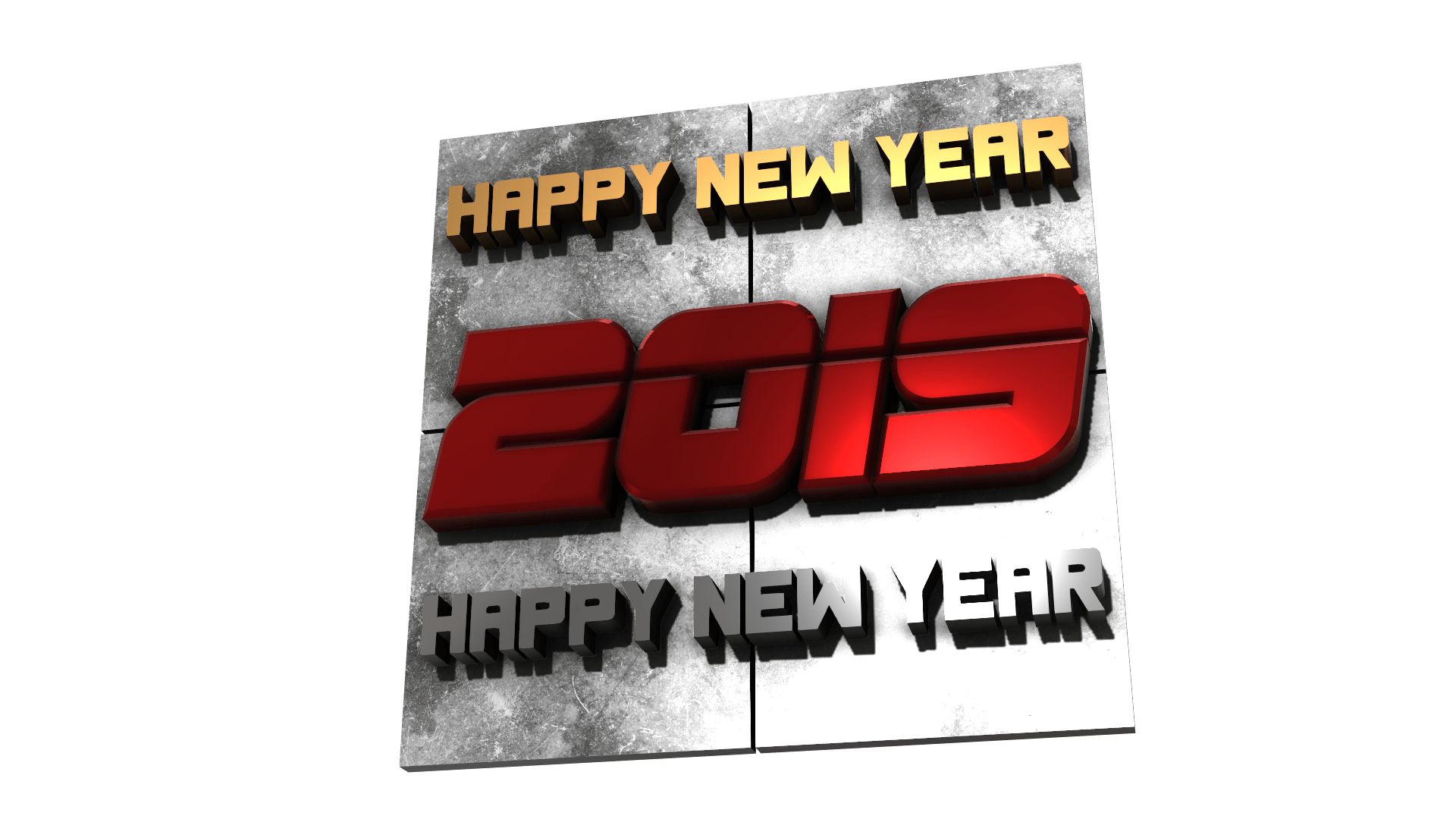 New year 3D png by mtc tutorials