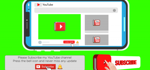 Subscribe Button And Bell Icon Green Screen New Style
