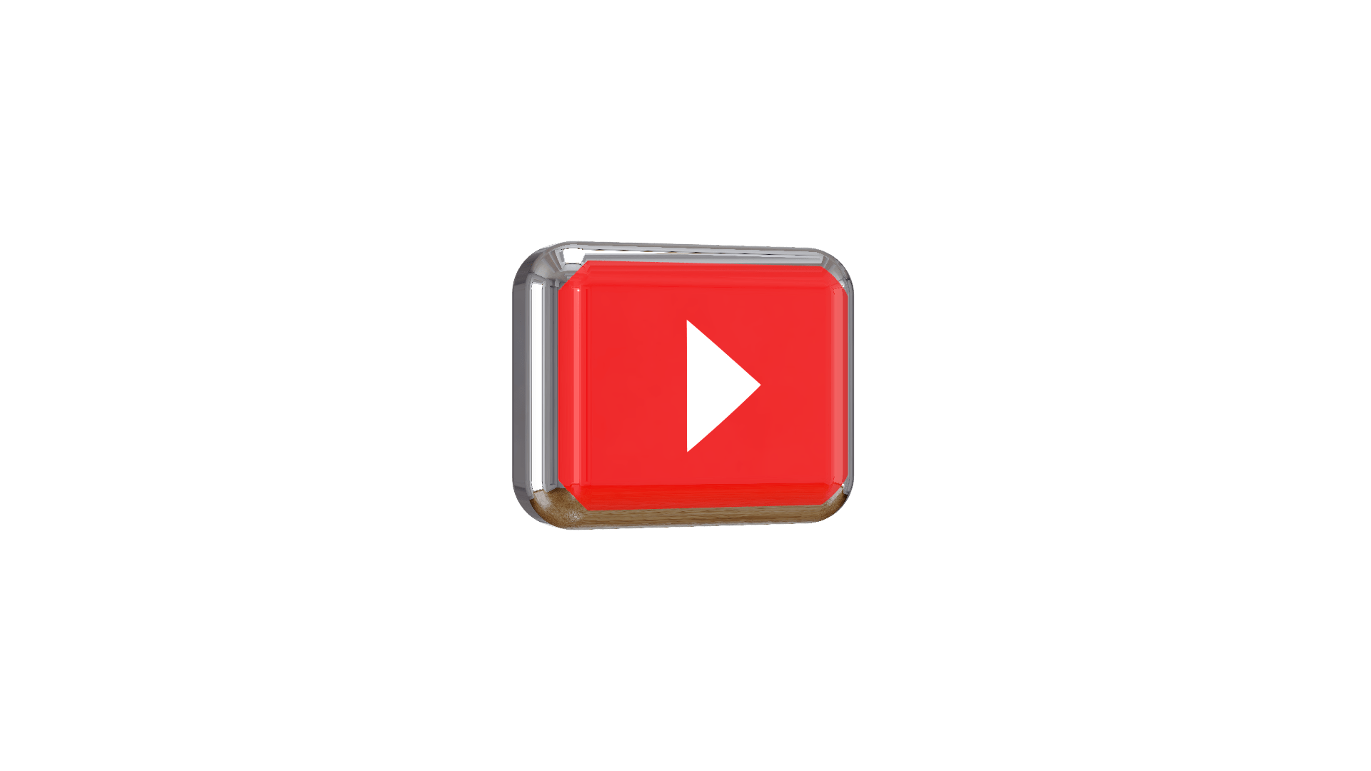 Youtube play button 3d png