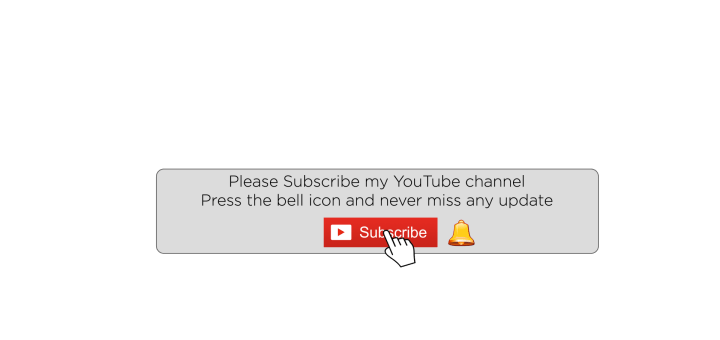 Youtube subscribe button and bell icon free