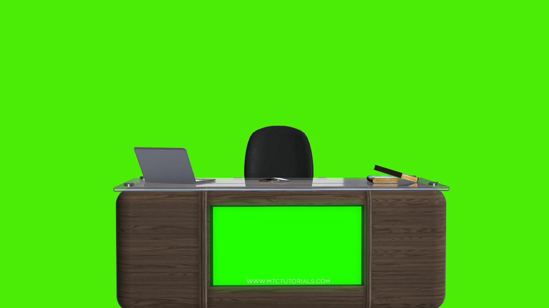 News Desk Chair Table Green Screen Transparent Wallpapers By MTC Tutorials