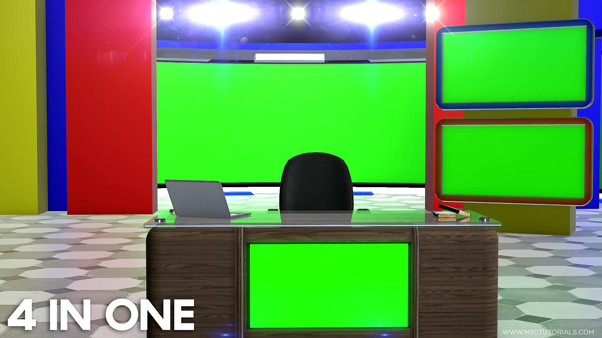 News Desk Chair Table Green Screen Transparent Wallpapers By MTC Tutorials (2)2