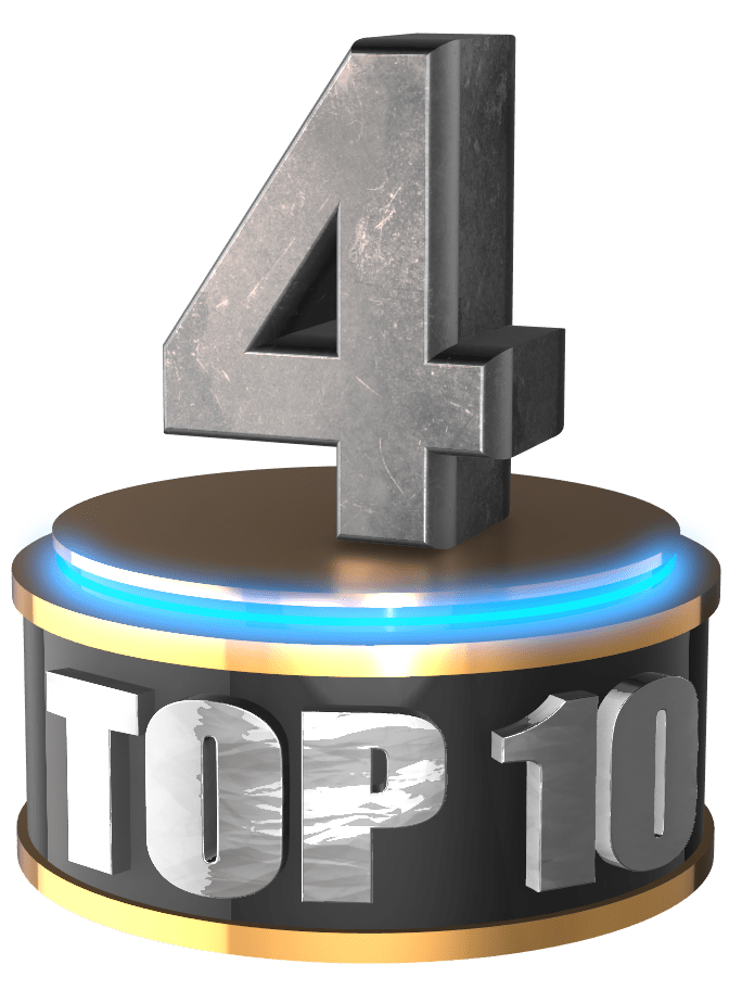 4 silver 3d count down 3D numbers free png