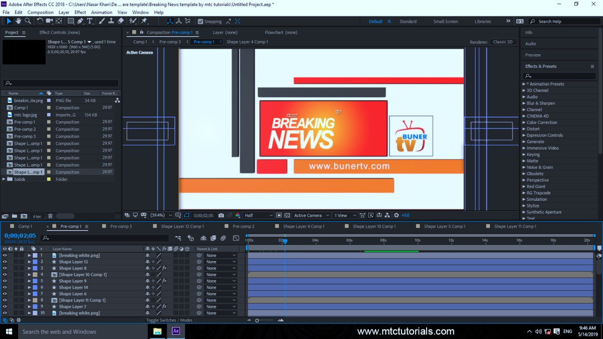 Download FREE Breaking News After Effects Templates