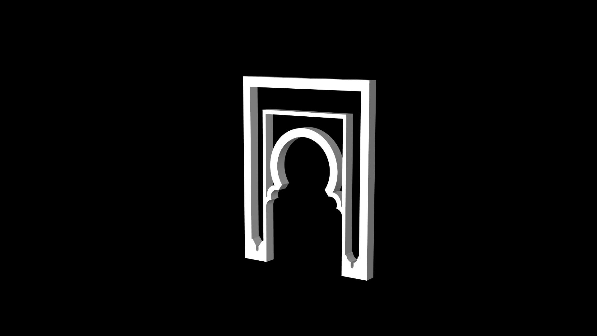 Islamic 3D model 3D Gate frame .Obj FREE