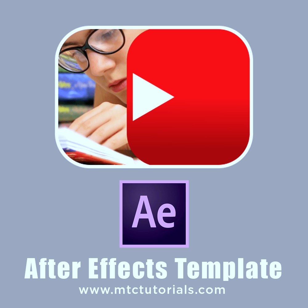 Youtube video intro, Opener Adobe After Effects Template MTC Tutorials
