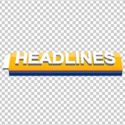 3D yellow color Headlines design template free transparent images by mtc vfx and mtc tutorials