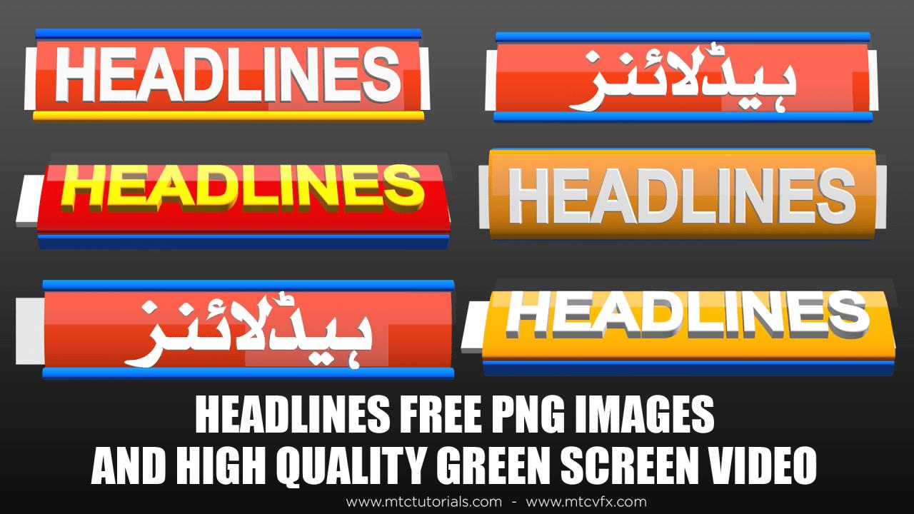 Headlines free png transparent images download urdu text