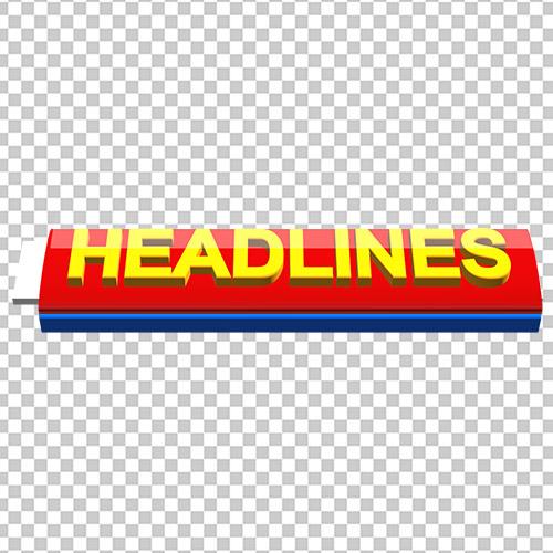 Urdu Headlines free png template by mtc tutorials