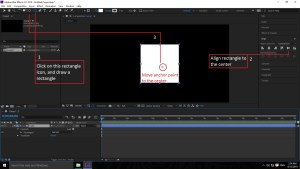 Creating shapes, aligning shapes in adobe after effects mtc tutorials