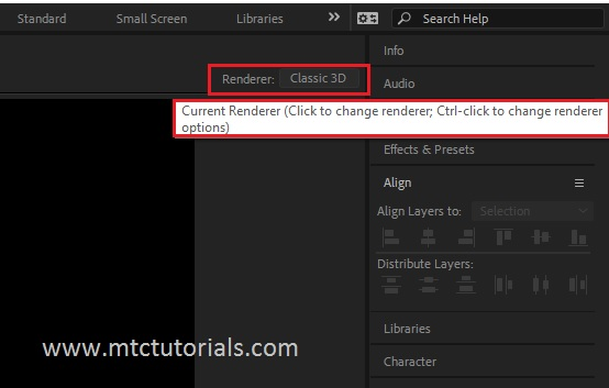 What is render options in adobe after effects mtc tutorials
