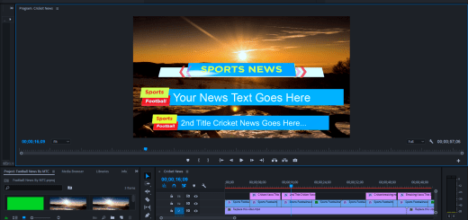 Football News Lower Thirds Free Adobe Premiere Template By MTC Tutrials