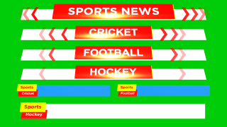 Sports News free animated green screen banners and lower thirds Cricket hockey football
