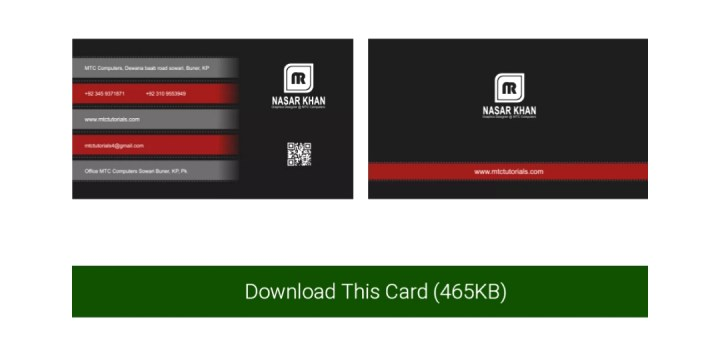 simple business card templates free download