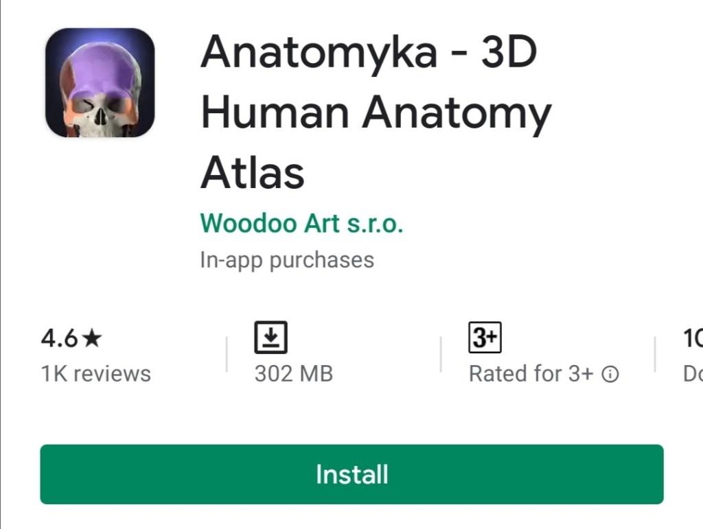 Anatomy Learning – 3D Atlas