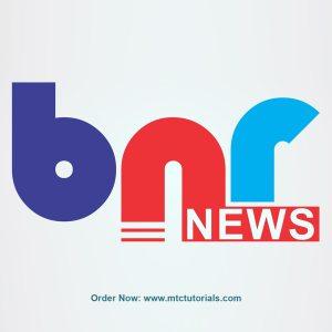 BNR News logo by mtc tutorials and mtc vfx create online logo order now