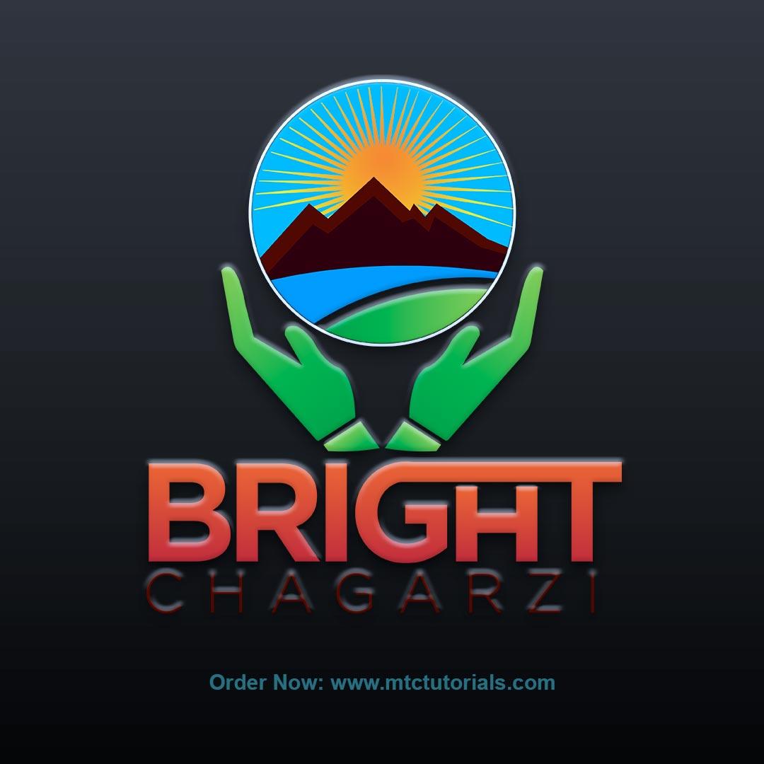 Bright Chagarzi logo designby mtc tutorials and mtc vfx create online logo order now