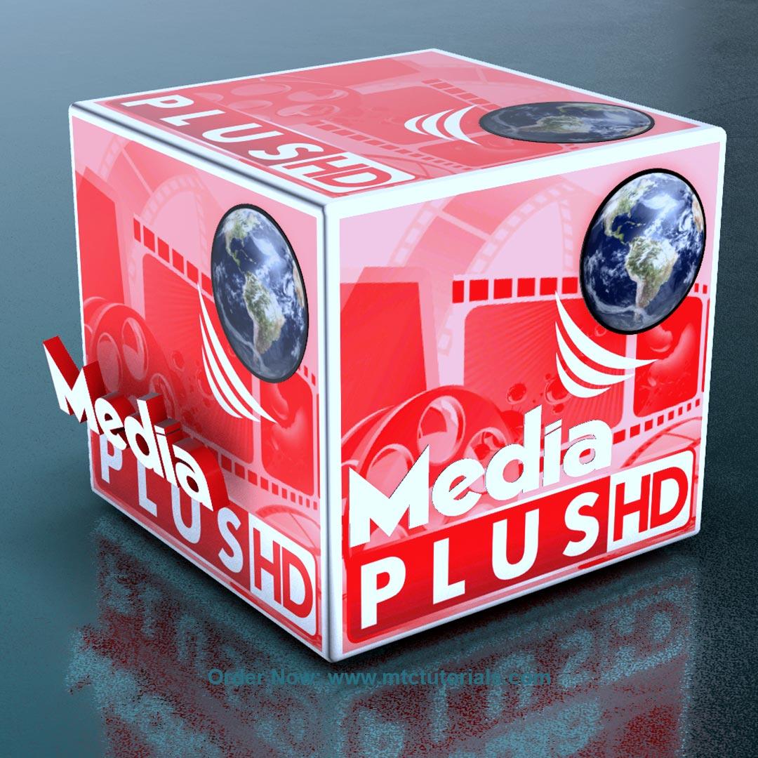 Media plus 3D cubic logo animation by mtc tutorials