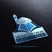 Mehmood online Quran Academy logo design by mtc tutorials 3D