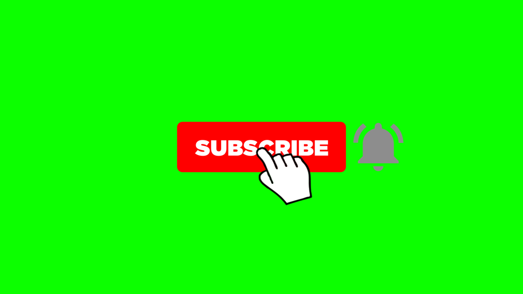 New subscribe button and bell icon smooth animation with free adobe after effects template