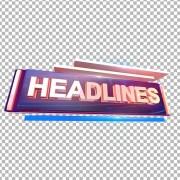 3D Headlines text png download