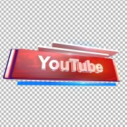 3D YouTube text png