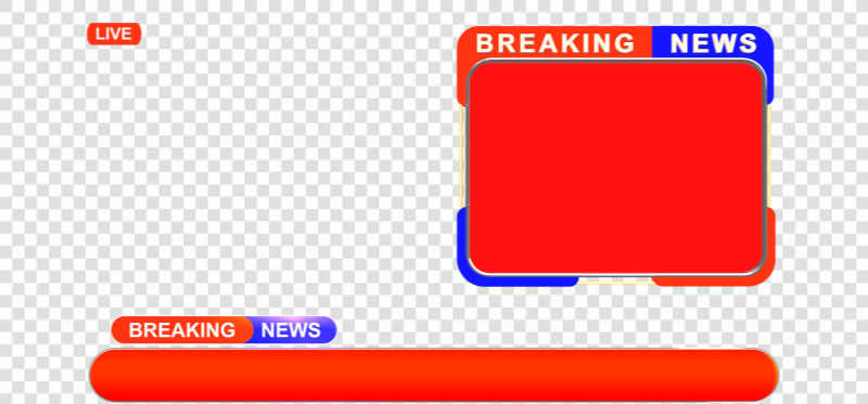 Breaking news bumper and lowerthird png