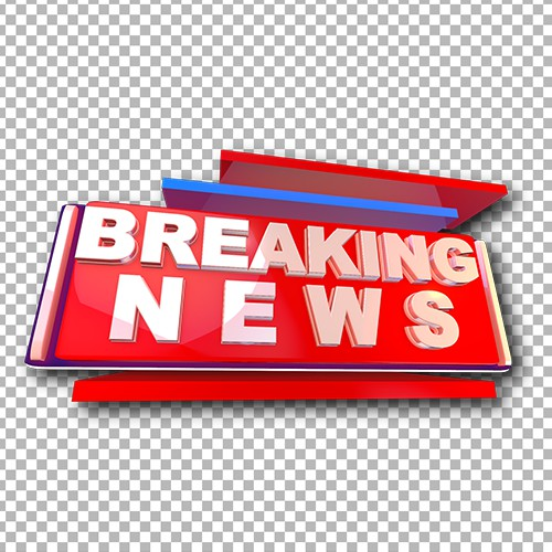 Breaking news high quality 3D image