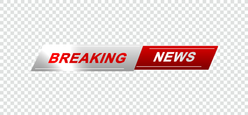 Breaking news stickers png