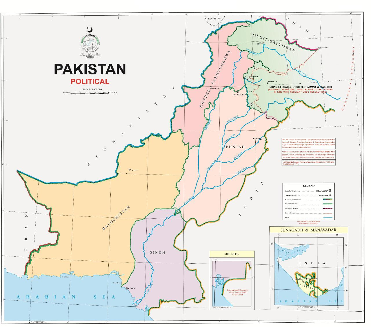 Pakistan New Political Map 2020 Download