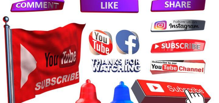 Social media png pack free download png